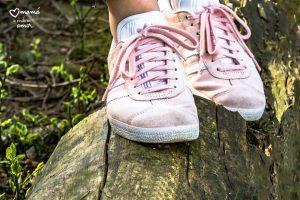 Las zapatillas rosas
